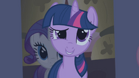 Twilight asks the ponies what are they doing in the dark S1E09