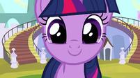 Twilight grinning closeup S3E2