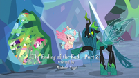 Chrysalis gloating at captured ponies S9E25
