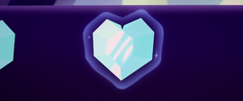 Heart-shaped crystal stage decoration MLPTM