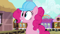 Pinkie Pie near the train S2E24