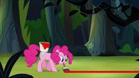 Pinkie Pie painting line on the ground S4E04