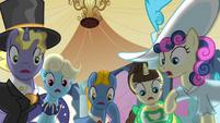 Ponies shocked by Celestia's defeat S2E26