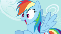 Rainbow Dash getting excited S4E04