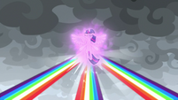 Rainbows of light converge on Twilight S9E25