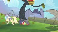 Rarity runs away from the bats S4E07