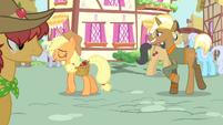 Trenderhoof and Applejack walking S4E13