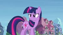 Twilight glares at Rainbow Dash S03E12