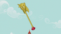 Twilight scepter flipping through the air S5E9