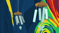 Wind chimes blowing in the breeze S9E3