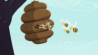 Bees fly back into the hive S4E16
