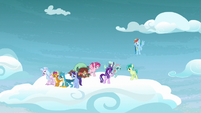 Dash, Starlight, and students in the clouds S8E25