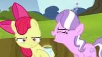 "Diamond Tiara shouting ""the worst cutie mark ever!"" S5E4"