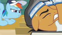 Rainbow Dash as Quibble's spotter S9E6