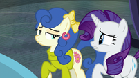 Rarity stunned by Blueberry Curls' words S8E4