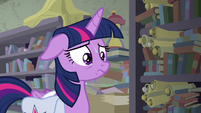 Twilight Sparkle sweating profusely S9E5