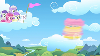 Filly Fluttershy spinning S1E23