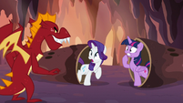 Garble discovers Twilight and Rarity S6E5