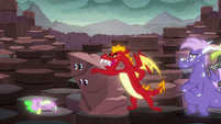 Garble pushes Spike from the --rock-- S6E5