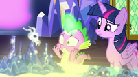 Spike looking incredibly nervous S7E15