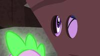 Twilight looking through the eyehole on the --rock-- S6E5