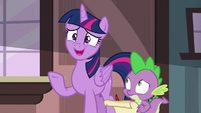 Twilight nervously asks --how was the trip--- S6E22