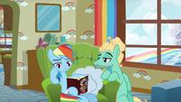 Zephyr Breeze admiring Rainbow Dash S6E11