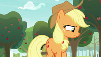 Applejack looking away in shame S9E10
