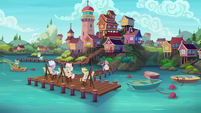 Elderly ponies on the Silver Shoals docks S9E5