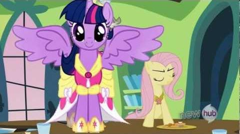 Fluttershy Gives Alicorn Twilight a Chance