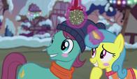 Lemon Hearts and Earth pony blushing S6E8