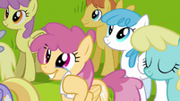 Pegasi moved by Rainbow Dash's words S2E22