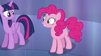 Pinkie Pie smiling at Twilight S6E1