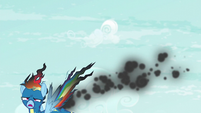 Rainbow Dash falls out of the sky S6E7