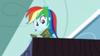 Rainbow looks confused at Twilight and Rarity SS12