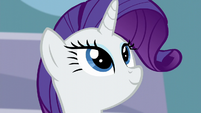 Rarity is looking while the background changes S5E15