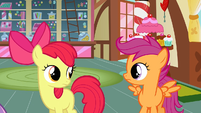 Scootaloo & Apple Bloom she serious S2E17
