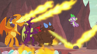 Teen dragons breathing laugh fire S9E9