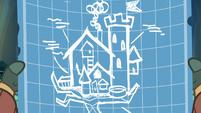 Treehouse blueprint in Yona's hooves S9E3