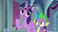 Twilight denying her brother's accusation S9E4