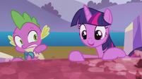 Twilight startles Spike --that's it!-- S5E25