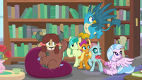 Young Six hear Cozy Glow giggling S8E22