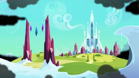 Black clouds approach the Crystal Empire S9E1
