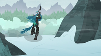 Chrysalis climbs higher up the mountain S9E8
