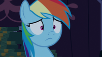 Rainbow Dash with a blank stare S6E15