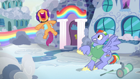 """Scootaloo squealing """"Rainbow Dash's dad!"""" S7E7"""