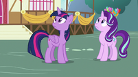 Twilight and Starlight looking at the sky S7E15