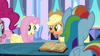 Applejack and Fluttershy singing S3E1