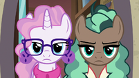 Bookstore ponies with an intense glare S8E8