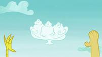 Cloud shaped like ice cream sundae S5E22